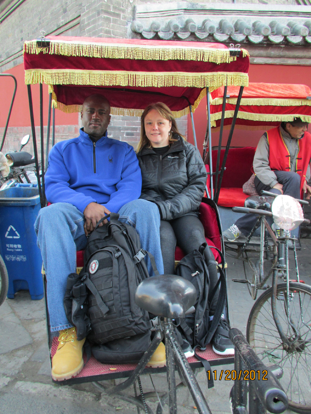 The photo of Cindy and Charle in Hutong